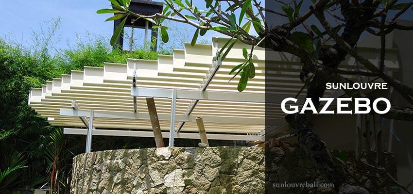 Sun louvre Gazebo Bali