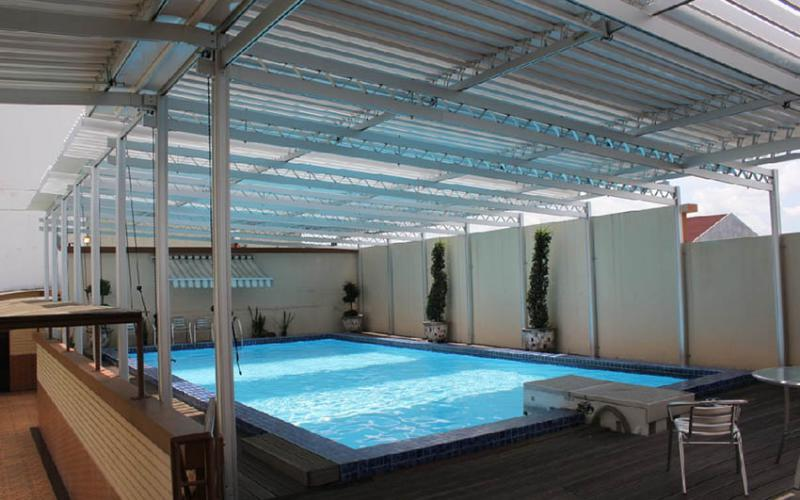 Aluminium Canopy Sunlouvre for Roofs Swimming Pool | Canopy ...
