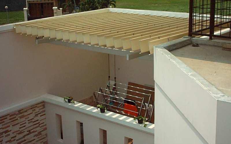 atap sunlouvre untuk tempat jemuran