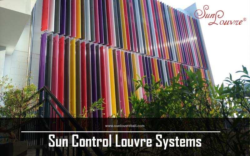 vertical sunlouvre aluminium sun shade